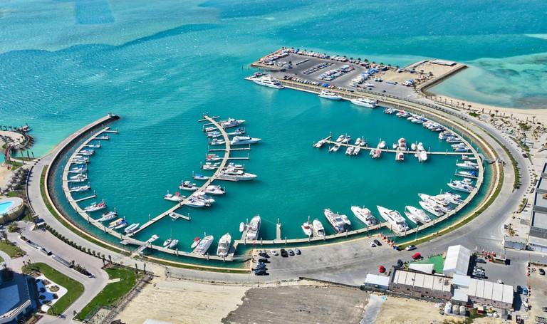The marina at Bahrain's Amwaj Islands