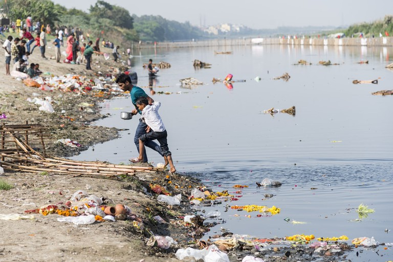 The River Yamuna, which passes through Delhi, is one of the most polluted rivers in the world