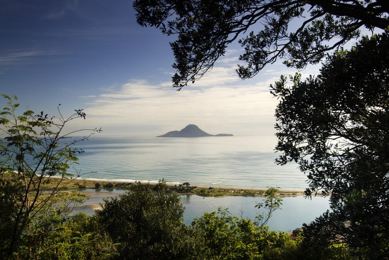 View of Whakatane, North Island, New Zealand