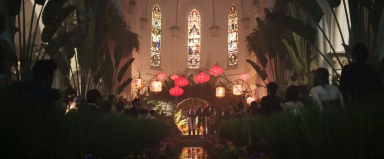 Singapore Crazy Rich Asians Trailer CHIJMES Interior