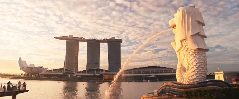 Singapore Crazy Rich Asians Trailer Merlion Park