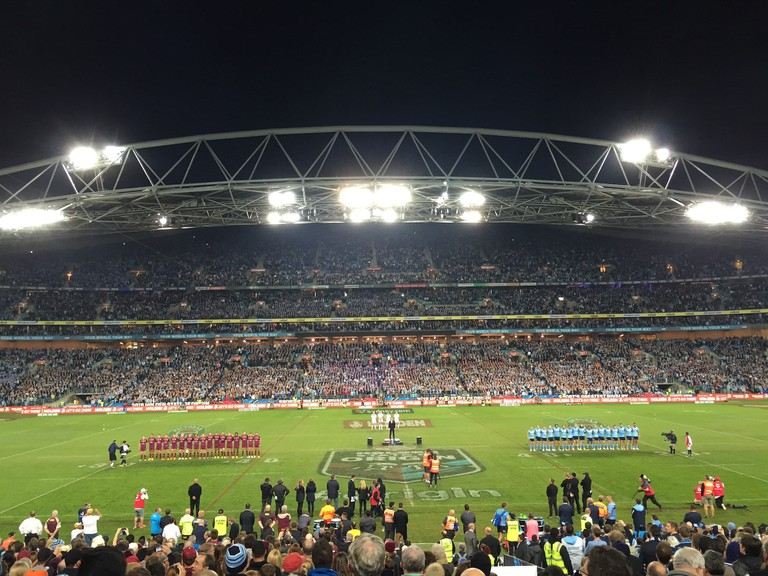 State of Origin rugby league at ANZ Stadium © Tom Smith
