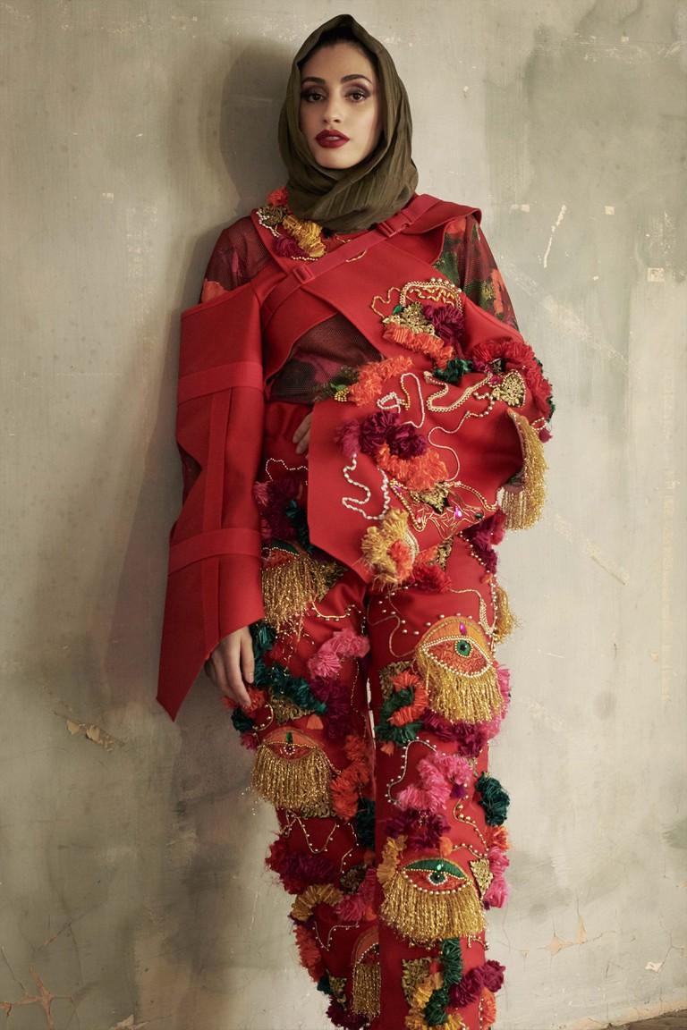 Designer Roshani Limbu (Solent Univeristy)/Model Zahra Rose