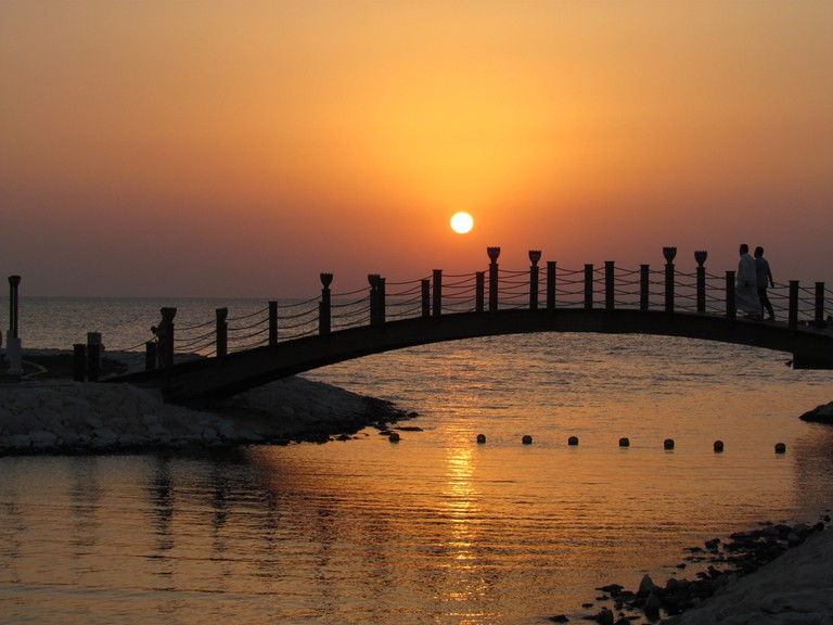 Sunset at the Sofitel Bahrain Zallaq Thalassa Sea & Spa