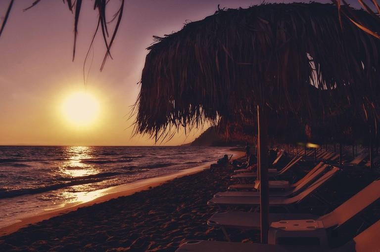 Sunset on the beach near Sivota, Epirus