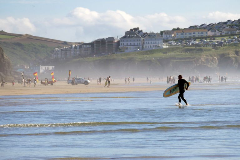 Surfer in Newquay