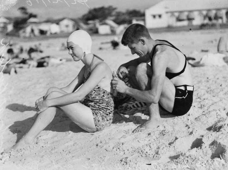 Swimmers on the Gold Coast in the 1930s © State Library of Queensland / Flickr