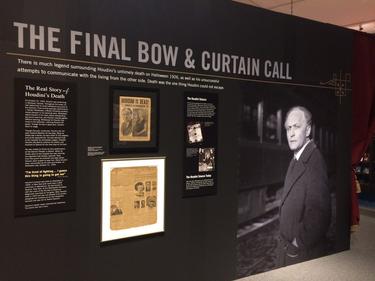 The Final Bow, Inescapable: The Life and Legacy of Harry Houdini, Jewish Museum of Maryland, Baltimore, Maryland