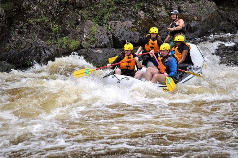 The intensity of white water rafting