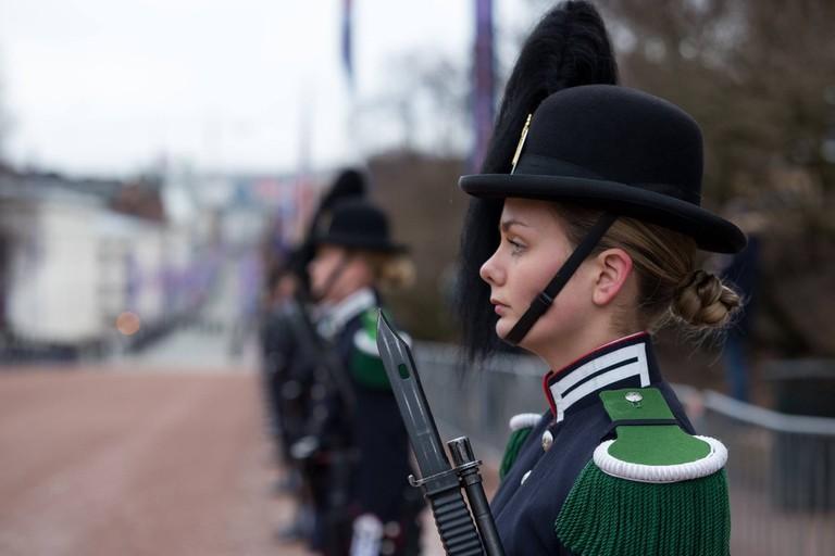 The Royal Guard in Karl Johan street