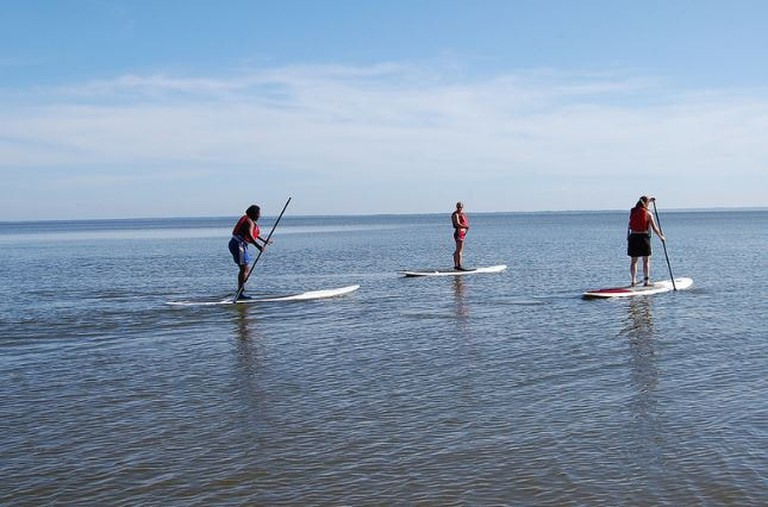 The serenity of stand up paddle boarding