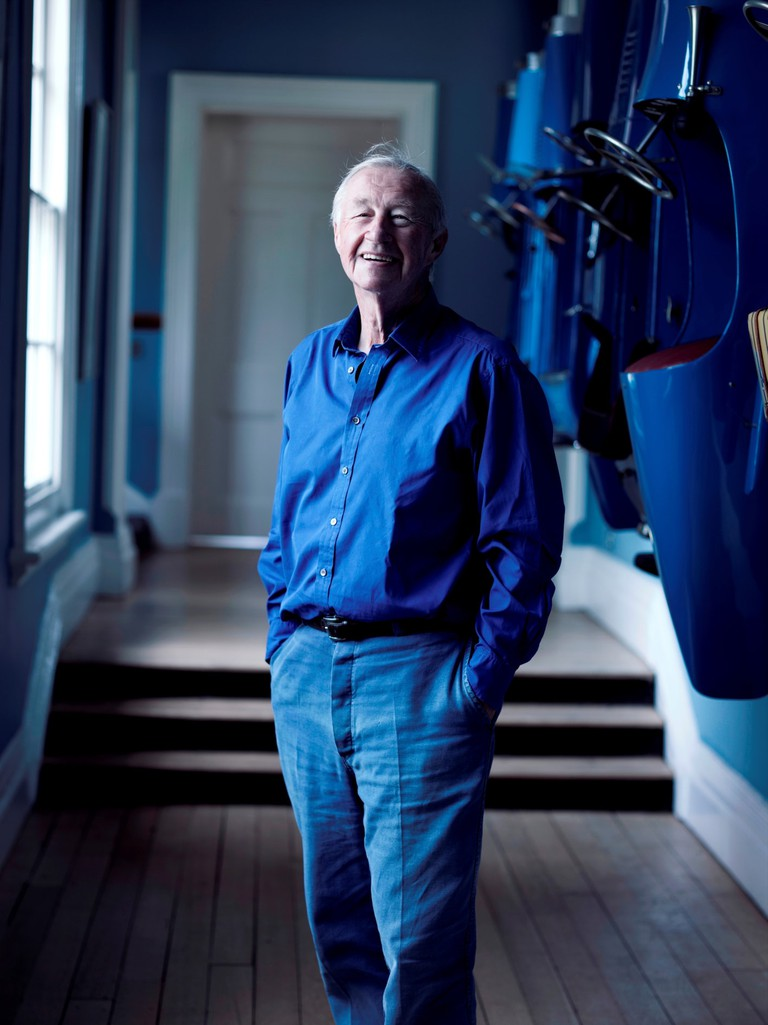 Conran wearing his signature colour – Cobalt blue