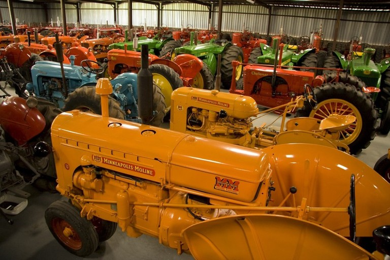 Tractor display at Randall's Ranch