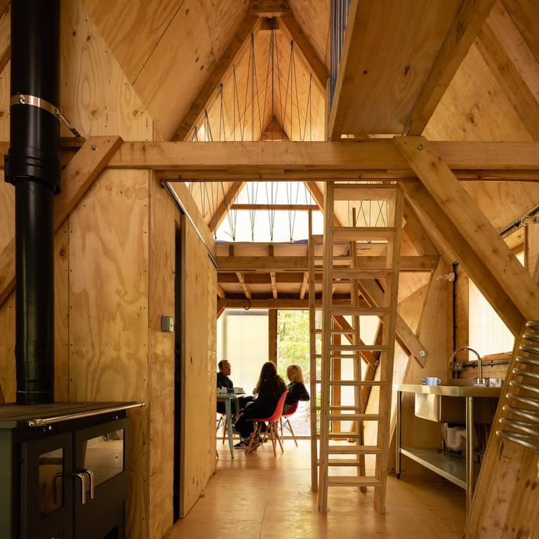 The two internal staircases were made using plywood offcuts