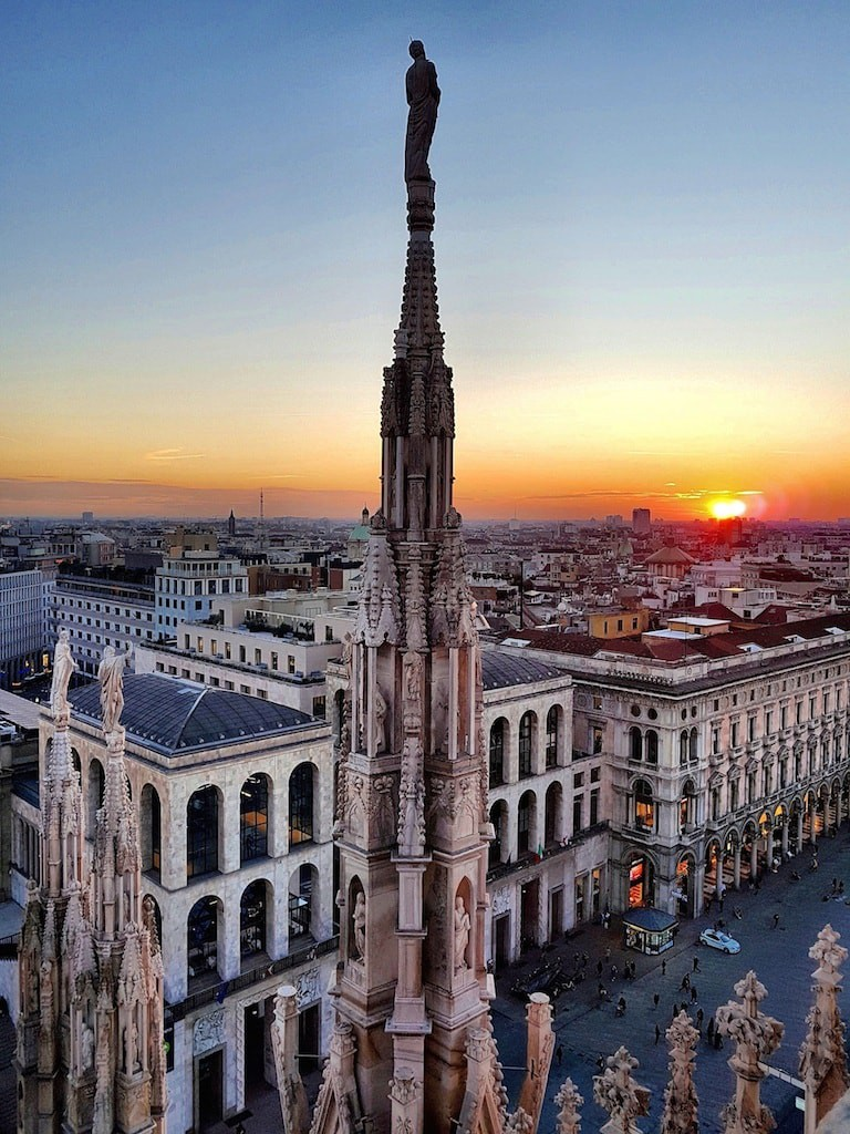 Climb the roof of Il Duomo at sunset and see the city in a new way | Courtesy Veneranda Fabbrica del Duomo di Milano