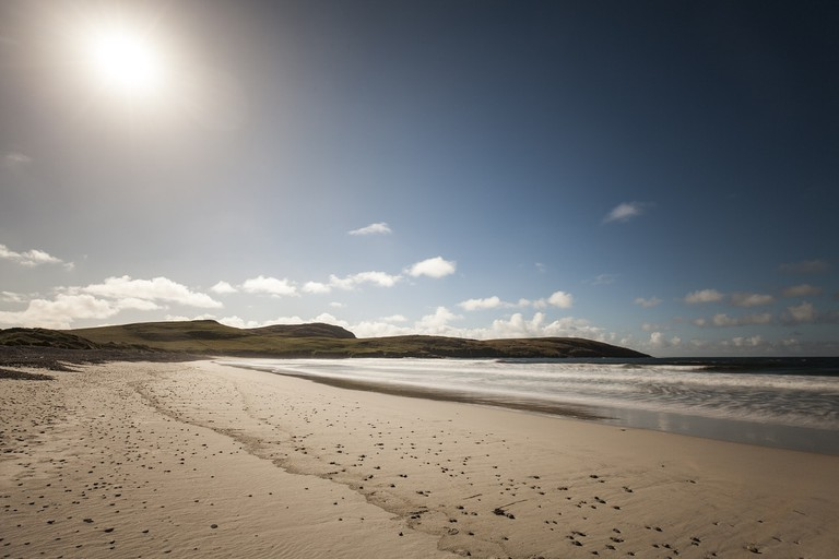 Vatersay beach, in Barra, Scotland