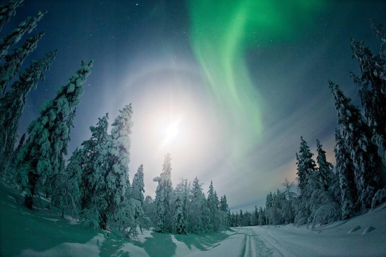 Northern Lights in Finnish Lapland.