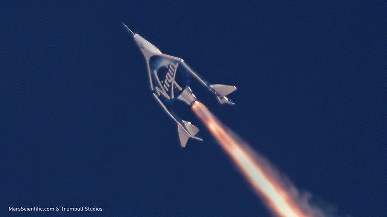 VSS Unity goes supersonic in her second powered flight