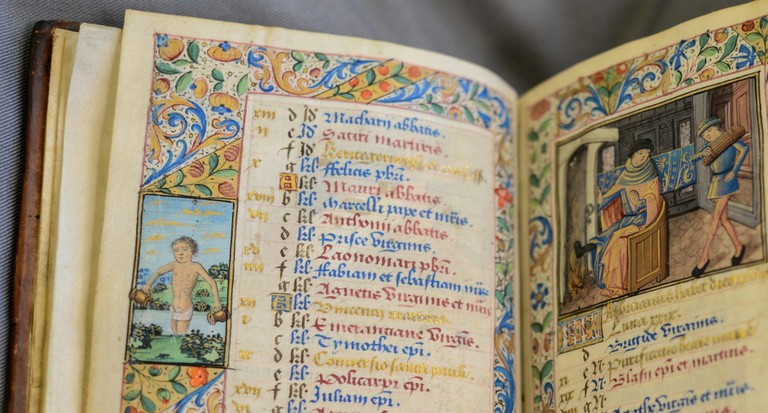 Image Of The Book Of Hours, Known As The 'Playfair Hours', Made in Rouen, France