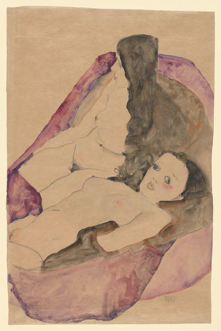 Egon Schiele, 'Two Reclining Nudes' (1911)