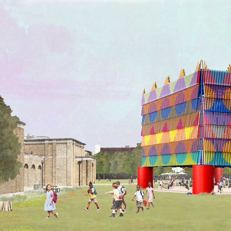 1. Pavilion in Context A_Dulwich Pavilion_Pricegore x Yinka Ilori_180709