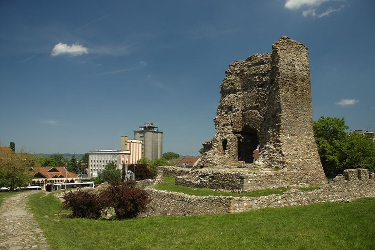 All that remains of the defensive walls of Lazar's Town in Kruševac