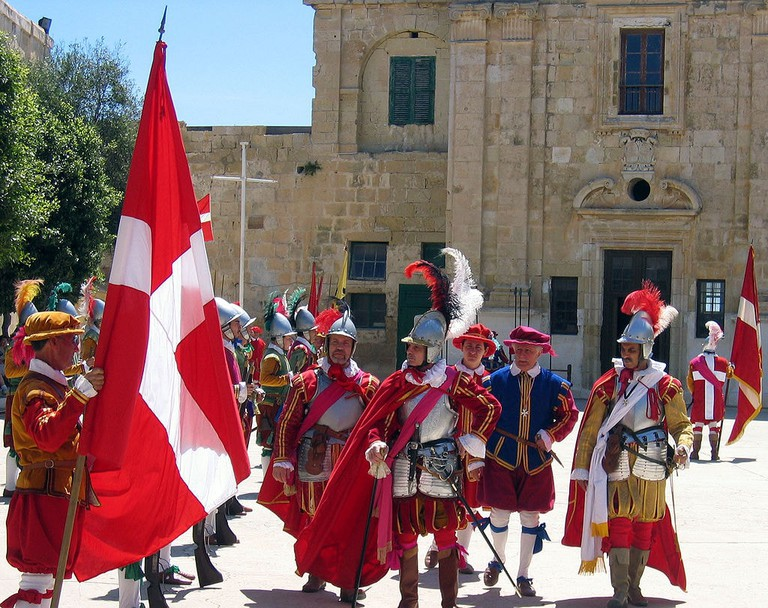 Malta knights re-enactment