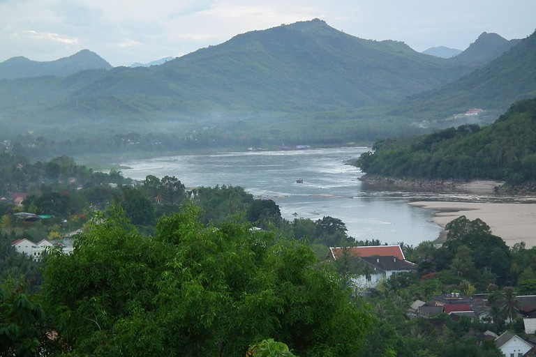 The confluence of the Mekong and Nam Khan in Luang Prabang