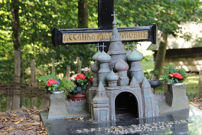 The grave of Desanka Maksimović in Brankovina, Serbia