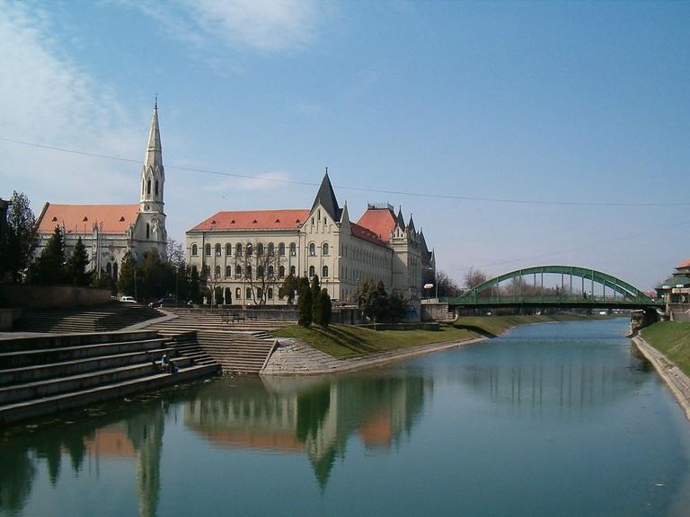 The Begej river runs through the centre of Zrenjanin