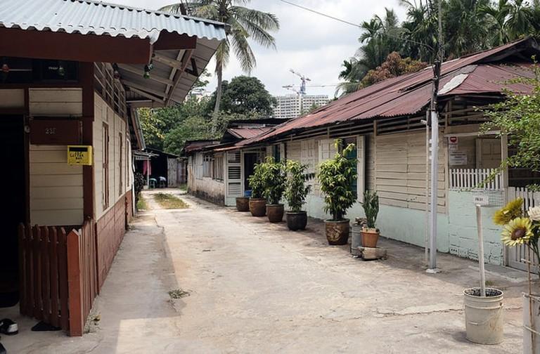 Kampong Lorong Buangkok's homes
