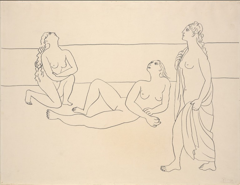 Pablo Picasso, 'Three Bathers by the Shore' (1920)