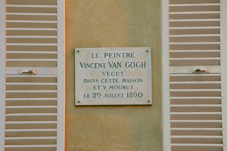 Van Gogh plaque at the Auberge Ravoux