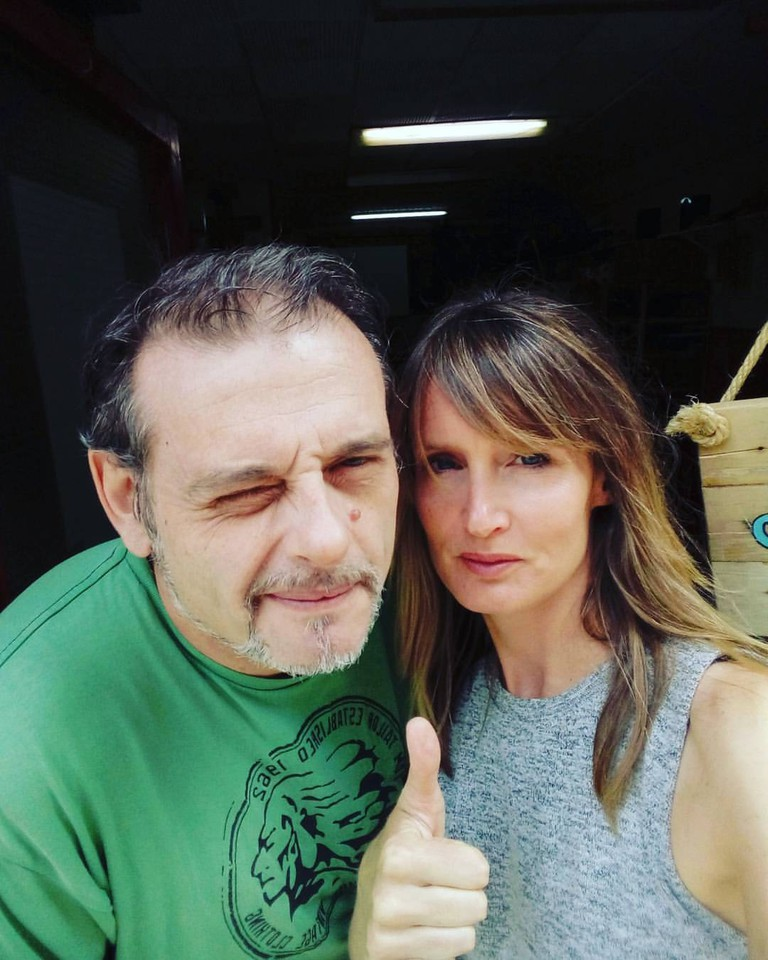 Lisa and Juan from Hidden City Tours, Barcelona