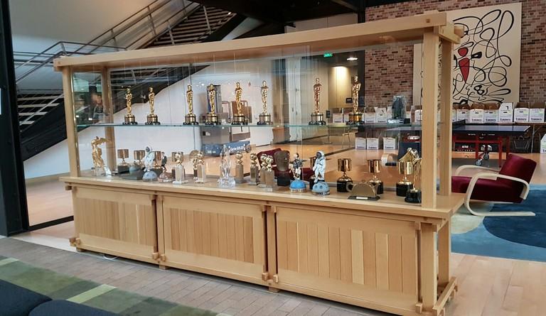 Pixar trophy cabinet