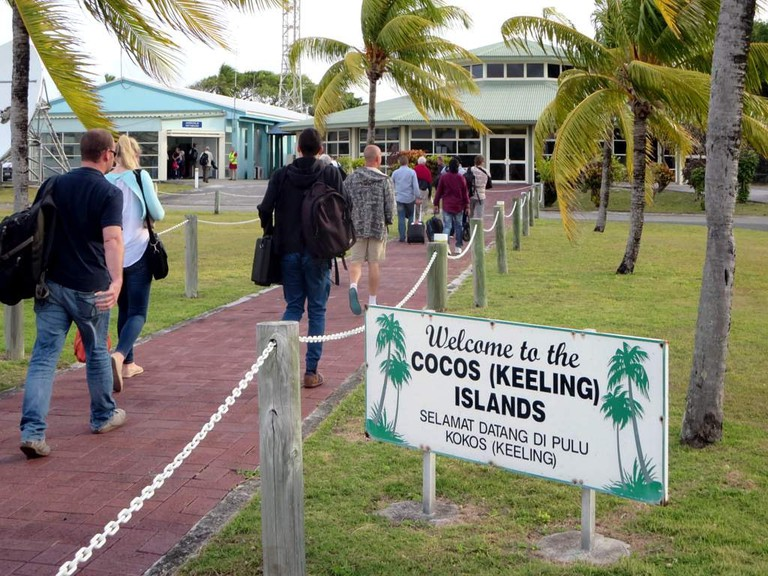 Welcome to the Cocos (Keeling) Islands' airport