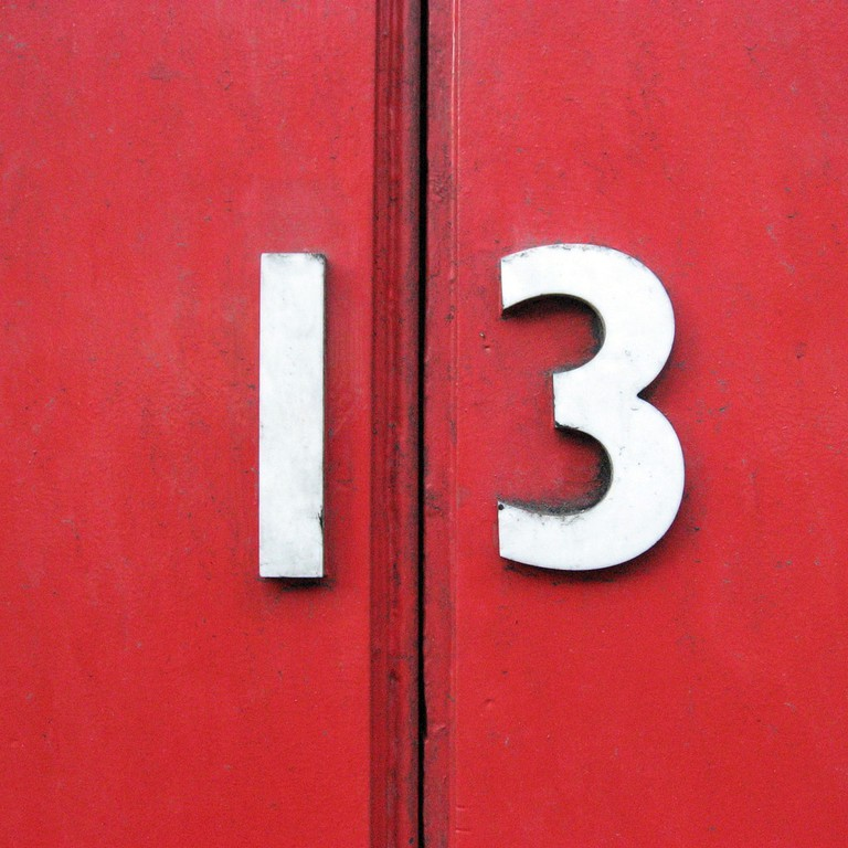 Triskaidekaphobia is an extreme superstition regarding the number 13