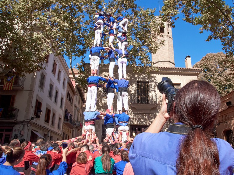 Castellers at the Festa Major de Gracia