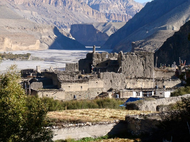 The village of Kagbeni in Lower Mustang