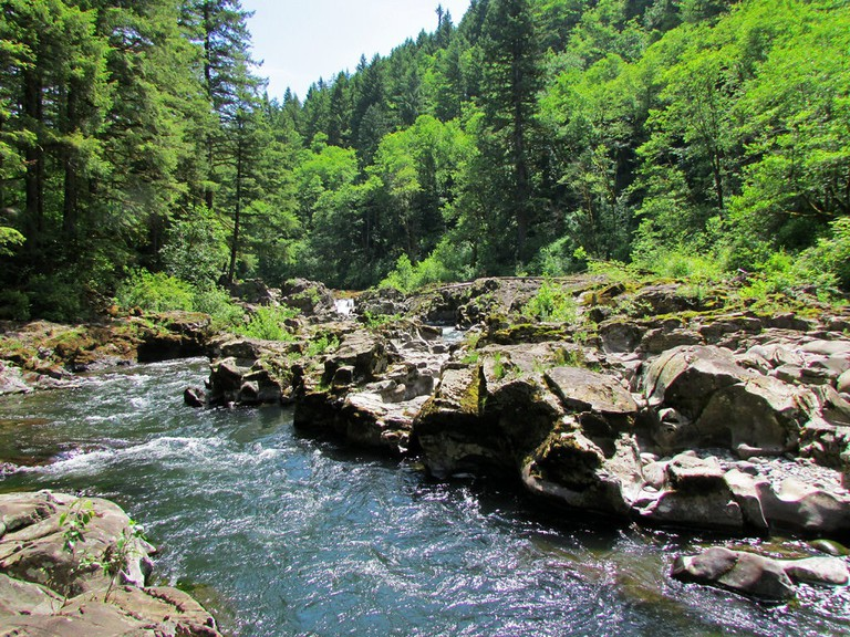 Floating the East Fork of the Lewis River is perfect for a hot summer day