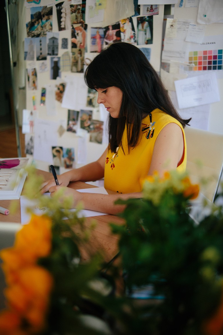 Berta Cabestany, fashion designer, Barcelona, 2018