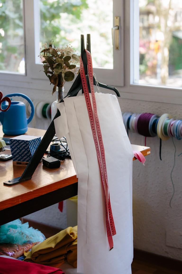 Fashion design essentials, Berta Cabestany studio, Barcelona, 2018