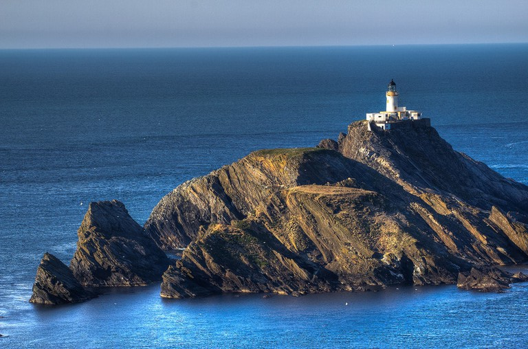 Muckle Flugga Lighthouse From Hermaness National Nature Reserve, Shetland