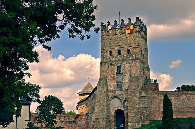 Замок_Любарта._В_їзна_вежа._Вид_зовні