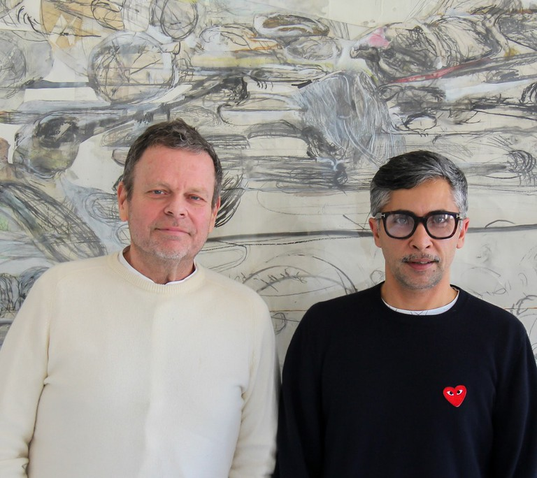 Alex Meitlis, right and his life and business partner Ivo Bisignano, left
