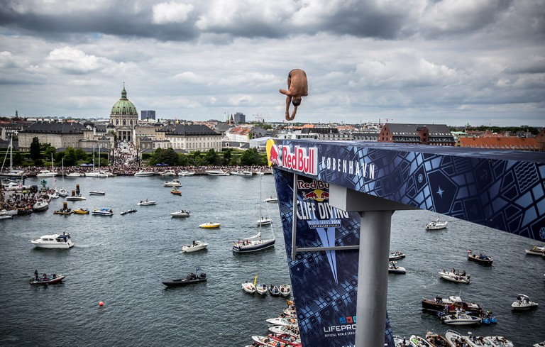 Red Bull Cliff Diving World Series-Copenhagen-Opera House