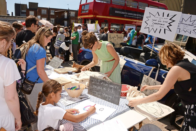 The Art Car Boot Fair 2014 in Brick Lane
