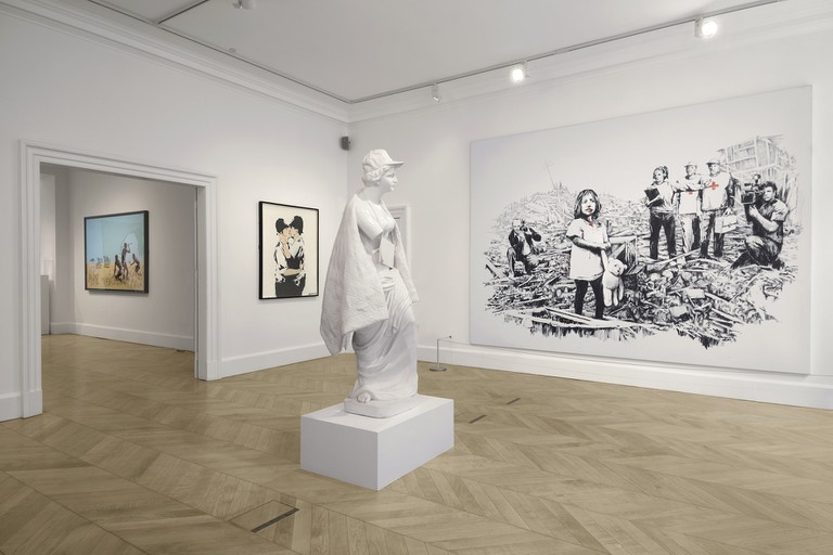 Banksy-Greatest-Hits-2002-2008_Installation-view-2_courtesty of Lazinc