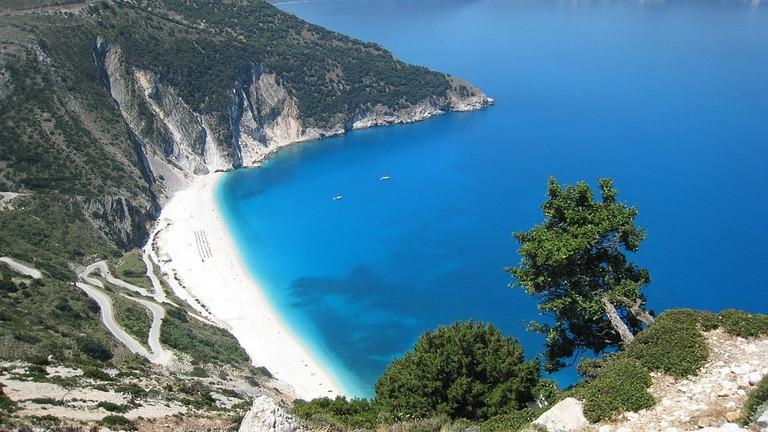 A beach in Kefalonia