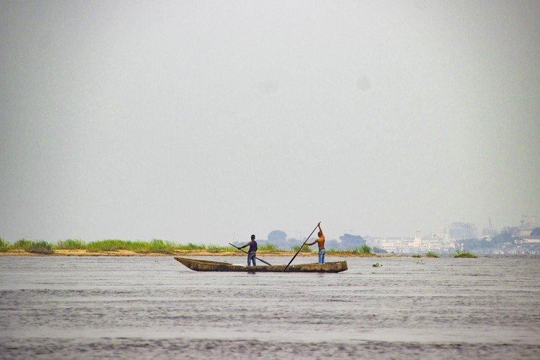 Crossing the Congo River